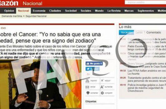 Diario anuncia medidas por difusión de noticia falsa