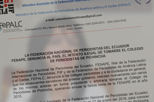 Grupo llama a elecciones ilegítimas en Colegio de Periodistas