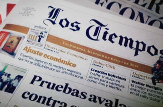 Diario Los Tiempos de Cochampamba denuncia que cuentas falsas usan su marca