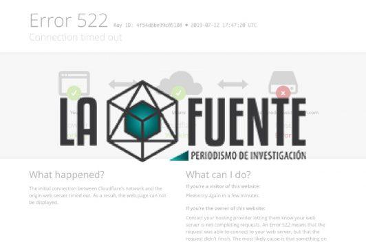 Web de La Fuente es dado de baja por denuncia de la Presidencia de la República