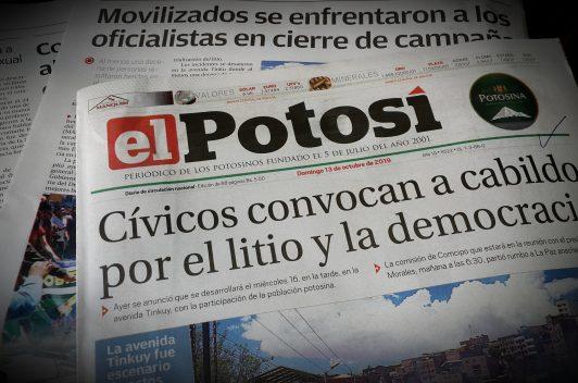Diario El Potosí denuncia corte de transmisión en Facebook